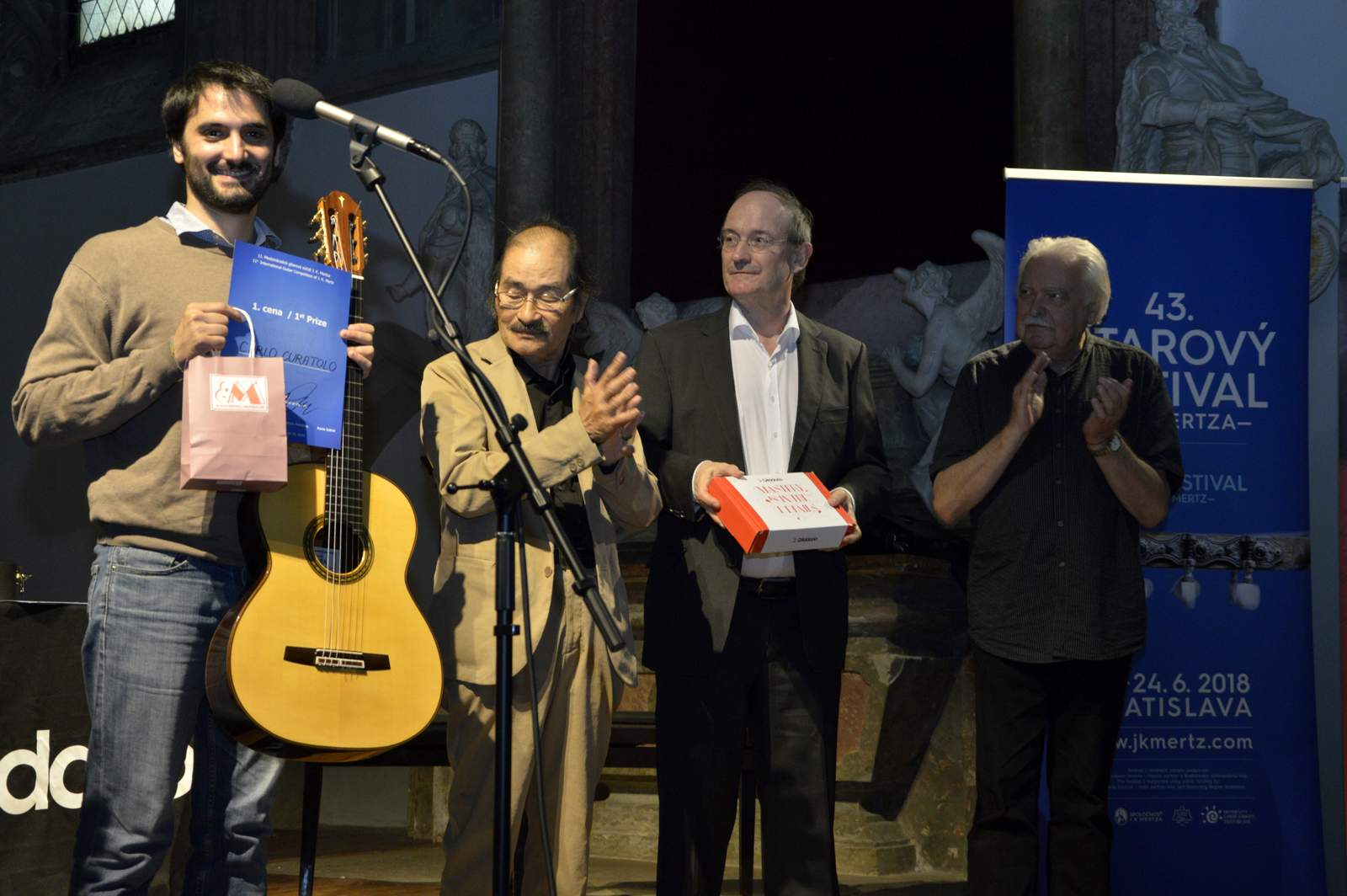 Odovzdávanie cien 11. Medzinárodnej gitarovej súťaže J. K. Mertza